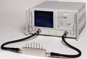 The Agilent 8722ES has a frequency range of 50 MHz to 40 GHz and can make a wide variety of RF measurements.