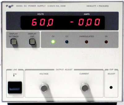 AGILENT 6028A 60V 10A Single-Output Autoranging DC Power Supply