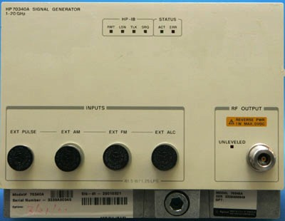 AGILENT 70340A 20 GHz Synthesized Signal Generator, MMS
