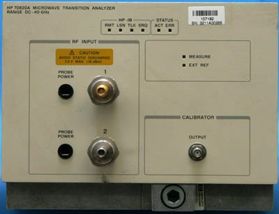 AGILENT 70820A Microwave Transition Analyzer, MMS