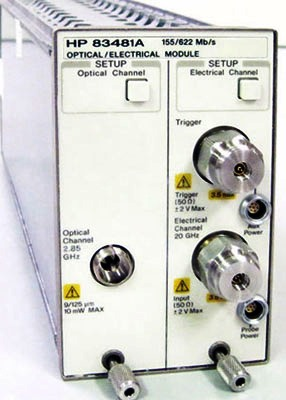 AGILENT 83481A 20 GHz Electrical/2.5 GHz Optical Plug-In Module