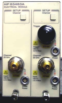 AGILENT 83483A Dual Channel 20 GHz Electrical Plug-In Module