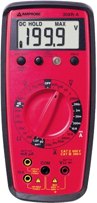 AMPROBE 30XR-A Auto Ranging Digital Multimeter with Non-Contact Volt Detect