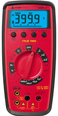 AMPROBE 34XR-A True-rms Digital Multimeter with Temperature