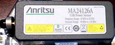 ANRITSU MA24126A 26 GHz, True-RMS, USB Power Sensor
