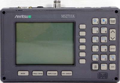 ANRITSU MS2711A 3 GHz Handheld RF Spectrum Analyzer