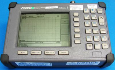 ANRITSU S331C Site Master Antenna, Cable and Spectrum Analyzer