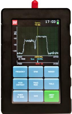 SAF J0SSAP12 10 to 18 GHz Handheld Spectrum Analyzer