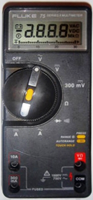 FLUKE 75 II Handheld Analog / Digital Multimeter
