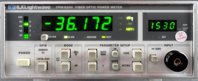 ILX LIGHTWAVE FPM-8200 Single Channel Optical Power Meter