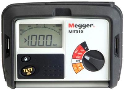 MEGGER MIT310 250, 500, 1000 V Insulation Tester
