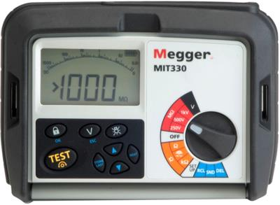 MEGGER MIT330 250, 500, 1000 V Insulation Tester